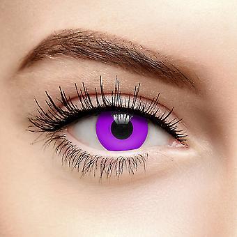 Lentes de contato coloridas purple violetuv uv i-glow (90 dias)