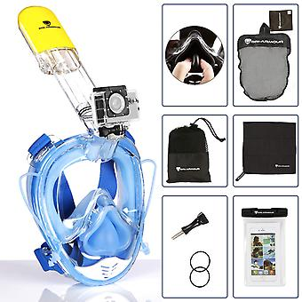 Dri-Armour Full Face Free Breathing Snorkeling Mask with Free Bonus Accessories