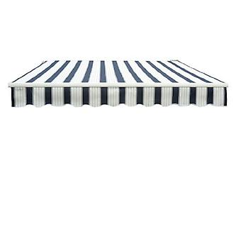 Outsunny 3.5 x 2.5 m Garden Patio Manual Awning Canopy Sun Shade Shelter - Blue/White