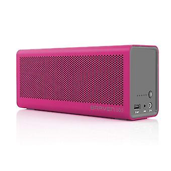 Braven 805 Portable Speaker Bluetooth HD Audio LED AUX 4,400mAh Battery - Pink