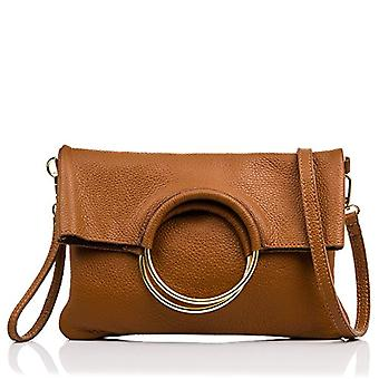 FIRENZE ARTEGIANI Real Leather Women's Bag. Women's leather bag genuine Dollar. Soft touch. Hand bag. Women's shoulder bag Made in ITALY. REAL ITALIAN PELLE 27x33x19 cm. Color: CUOIO