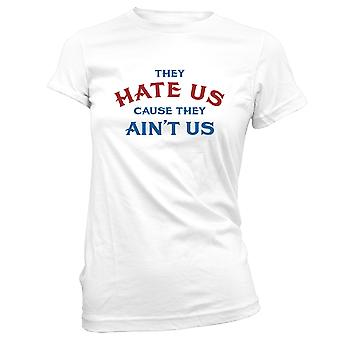 Womens Sweatshirts Hooded Hoodie- They Hate Us Cause They Ain't Us