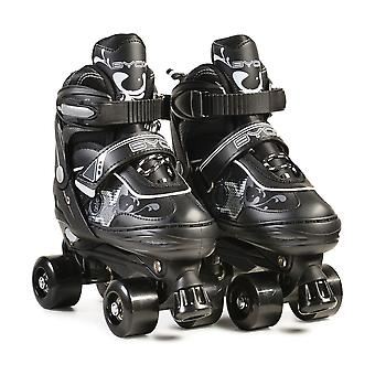 Byox Roller skates Darth black various sizes PVC brake PU wheels ABEC-5