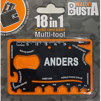 Multitool Multitool ANDERS kredittkort debetkort