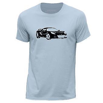 STUFF4 Mannen ronde hals T-T-shirt/Stencil auto Art / Exige S/Sky blauw