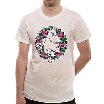 Moomin Unisex Adults Flower Design T-Shirt
