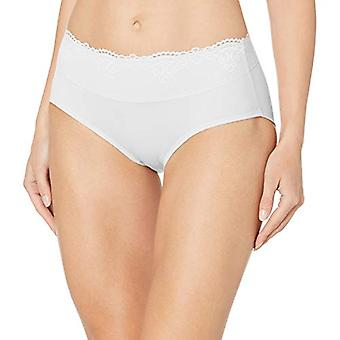 Bali Women's Passion for Comfort Hipster Panty, White, 7, White, Size 7.0