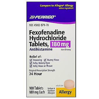Perrigo fexofenadine hcl, 180 mg, tabletten, 100 ea