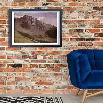 Albert Bierstadt - Mountains Poster Print Giclee