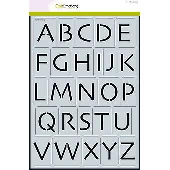 CraftEmotions Schablone - Alphabet Großbuchstaben Skia A4 - H = ±35mm A4