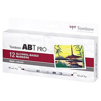 Tombow ABT PRO Alcohol - Cepillo Dual 12 uds. set Basic 19-ABTP-12P-1