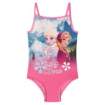 ديزني المجمدة إلسا آنا هدية رسمية الفتيات الاطفال السباحة زي دعوى