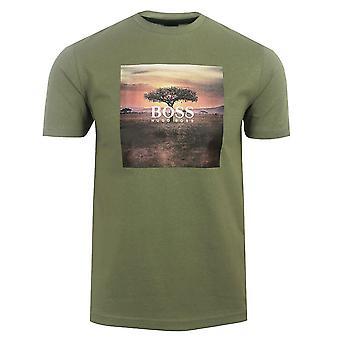 Hugo boss men's open green troaar 5 t-shirt