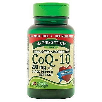 Nature-apos;s vérité améliorée absorption coq-10, 200 mg, plus extrait de poivre noir, softgels, 50 ea