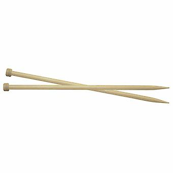 Knitpro Basix Birch: Épingles à tricoter: Single-Ended: 30cm x 6.50mm