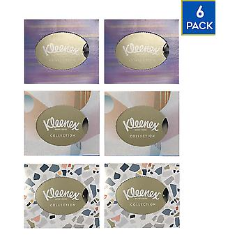 6 Box Kleenex Collection 56 Facial Soft Tissues Everyday Cold Flu Blocked Nose