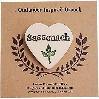 Deborah Cameron Outlander Inspirowana Ceramiczna broszka - Sassenach