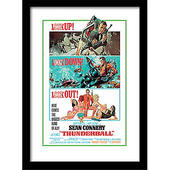 James Bond 007 Thunderball Look Out Framed Plate 30*40cm