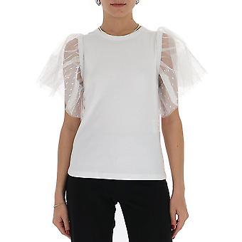 Red Valentino Tr0mg06e5540bo Women's White Cotton T-shirt