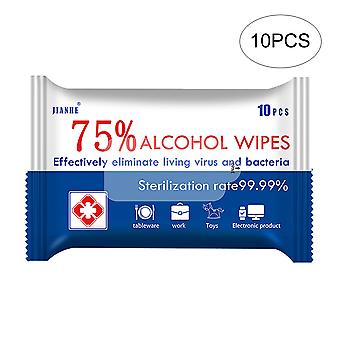 Alcohol wipes, 75% alcohol, 10 pack combination set, sterile wipes sterile gauze pads, individually packaged, can be used for outdoor skin cleaning