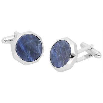 Duncan Walton Castigoni Sodalite Cufflinks - Silver/Blue