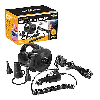 Milestone AC Electric Camping Rechargeable Air Pump 240V Black