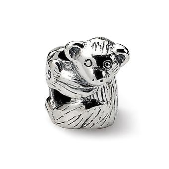 925 Sterling Silver Polished finish Reflections SimStars Baby Bear Baby Bear Charm Pendant Necklace Jewely Gifts for Women