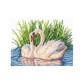 Andriana Cross Stitch Kit - Pair of Swans