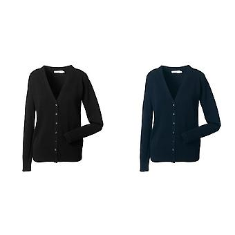 Russell Collection Ladies/Womens V-neck Knitted Cardigan