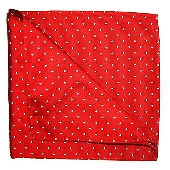 Tyler e Tyler manchas Pocket Square - vermelho/branco