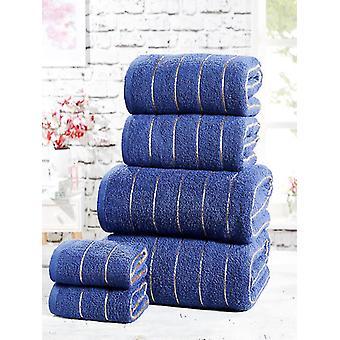 6-delige handdoek Bale Navy
