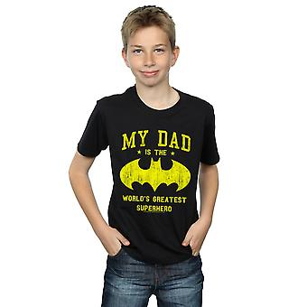 DC Comics Boys Batman My Dad Is A Superhero T-Shirt