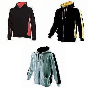 Finden & Hales Mens Full Zip Hooded Sweatshirt / Hoodie