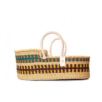 Cosy Coco Natural Handwoven Baby Moses Basket & Mattress |