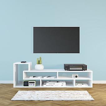 Mobile Porta TV Mikey Color Bianco in Truciolare Melaminico 135x40x42 cm
