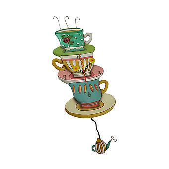 ألن تصاميم بقعة من الشاي غريب الاطوار البندول الجدار على مدار الساعة