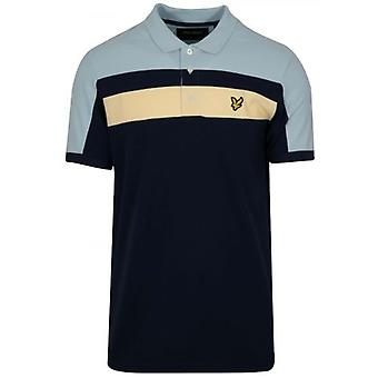 Lyle & Scott Navy Blue Block Polo Shirt