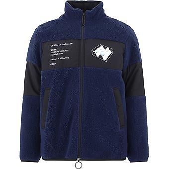 Off-white Omki015e20fab0014501 Mænd's Blå Polyester Sweater