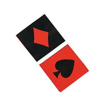 16 große Casino oder Spielkarte Design Papier Party Servietten