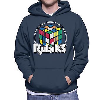 Rubik's Kreis Logo Männer's Kapuzen Sweatshirt