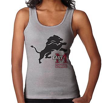 East Mississippi Community College mörka lejon logo typ kvinnor ' s Vest