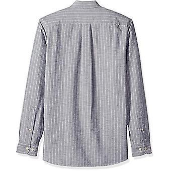 Goodthreads Men's Standard-Fit Langarm Nadelstreifen Chambray Shirt, -denim s...