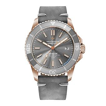 Meccaniche Veneziane 1302018 Nereide Rose Gold Tone Grey Bezel Automatic Wristwatch