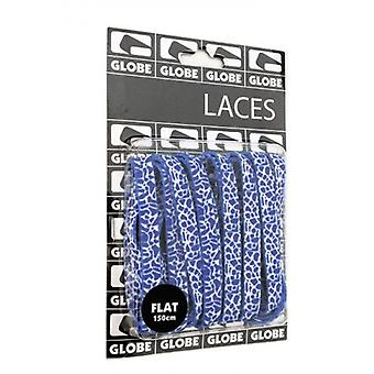 Globe Laces Unisex Laces in Blue White