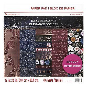 Craft Smith Dark Elegance 12x12 Inch Paper Pad