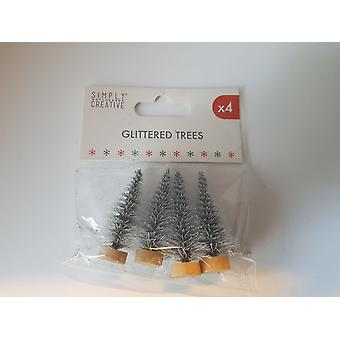 Simply Creative Christmas Glitter Trees (4pcs) (SCTOP042X19)