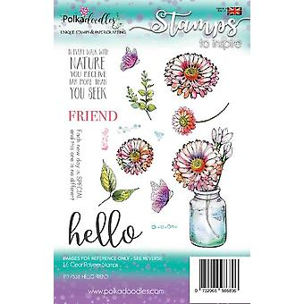 Polkadoodles Hello Friend Clear Stamps