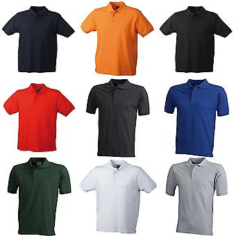 James and Nicholson Mens Workwear Mens Polo
