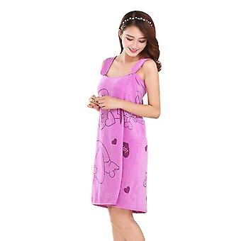 Women's Kimono Robe Set - Wrap Body Sexy Bathrobe & Lcasual Sleepwear Home Bath Towels