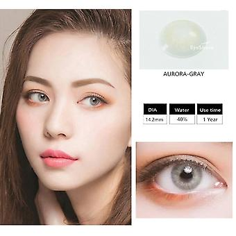 1 Pair (2pcs) Natural Crystal Color Contact Lens For Eyes - Cosmetic Contact Lenses